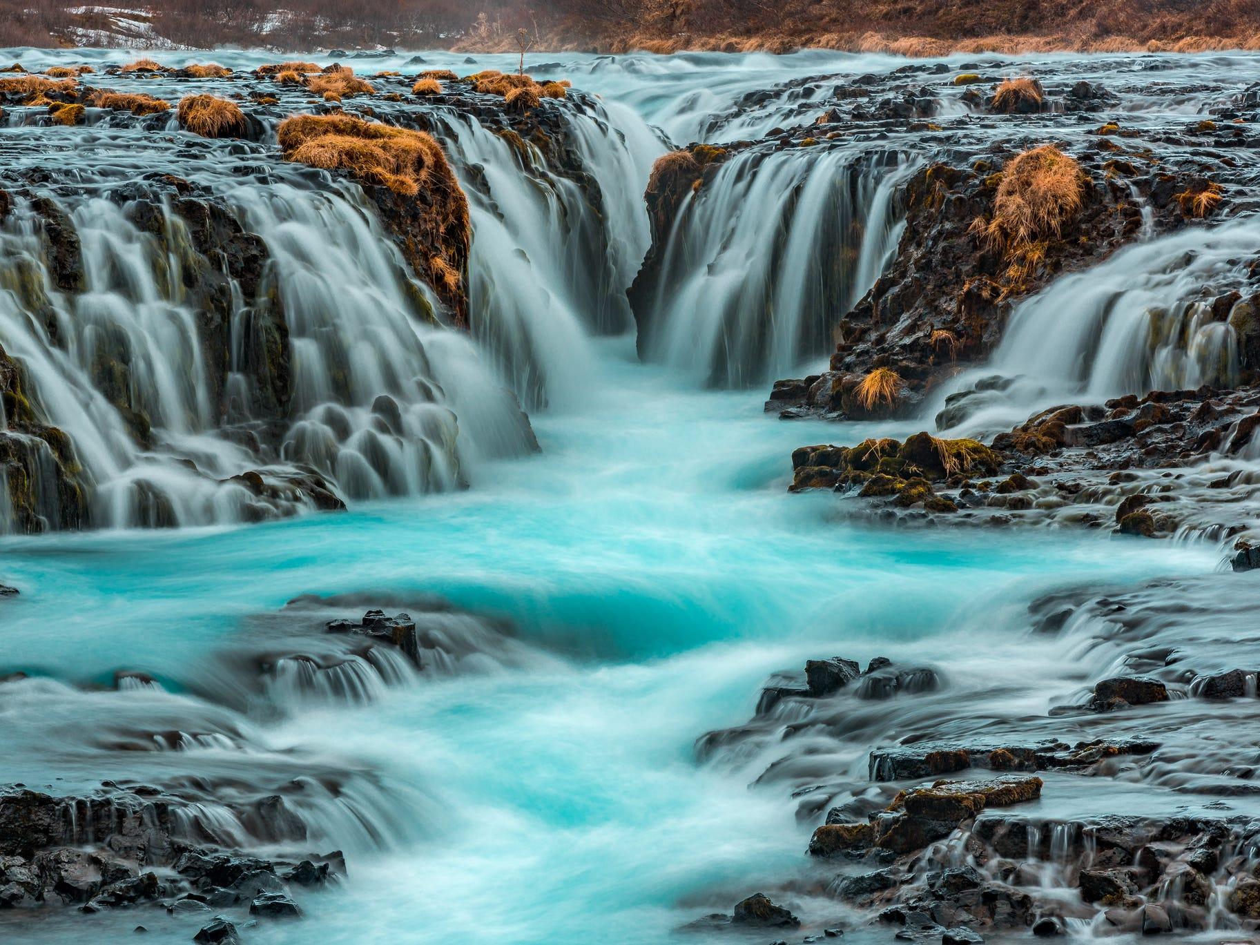 Bruarfoss in Iceland.