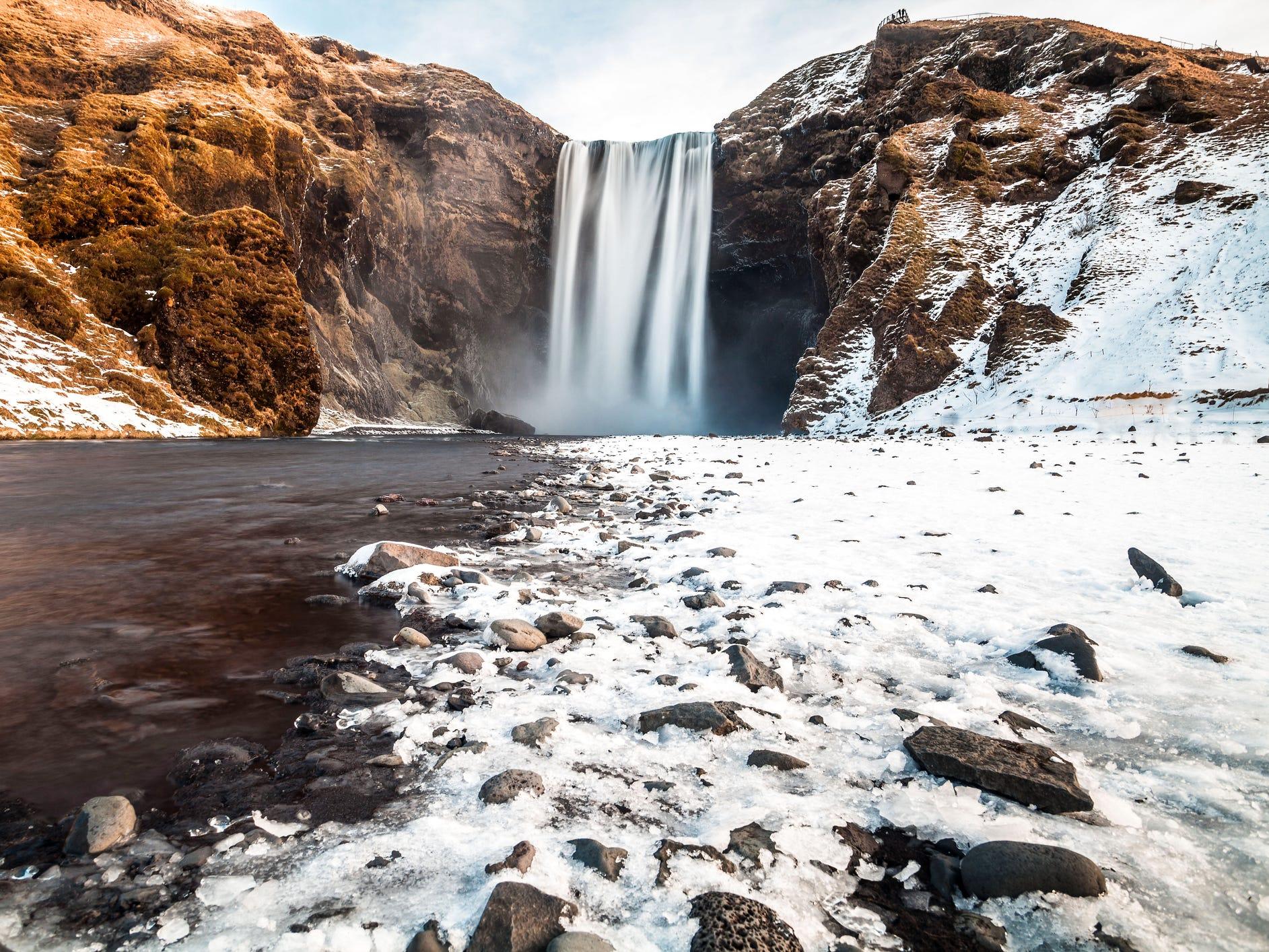 Skógafoss in Iceland.