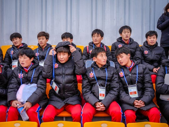 A youth soccer delegation came from North Korea to compete at the Ari Sports Cup tournament in Chuncheon, South Korea, on Oct. 29.
