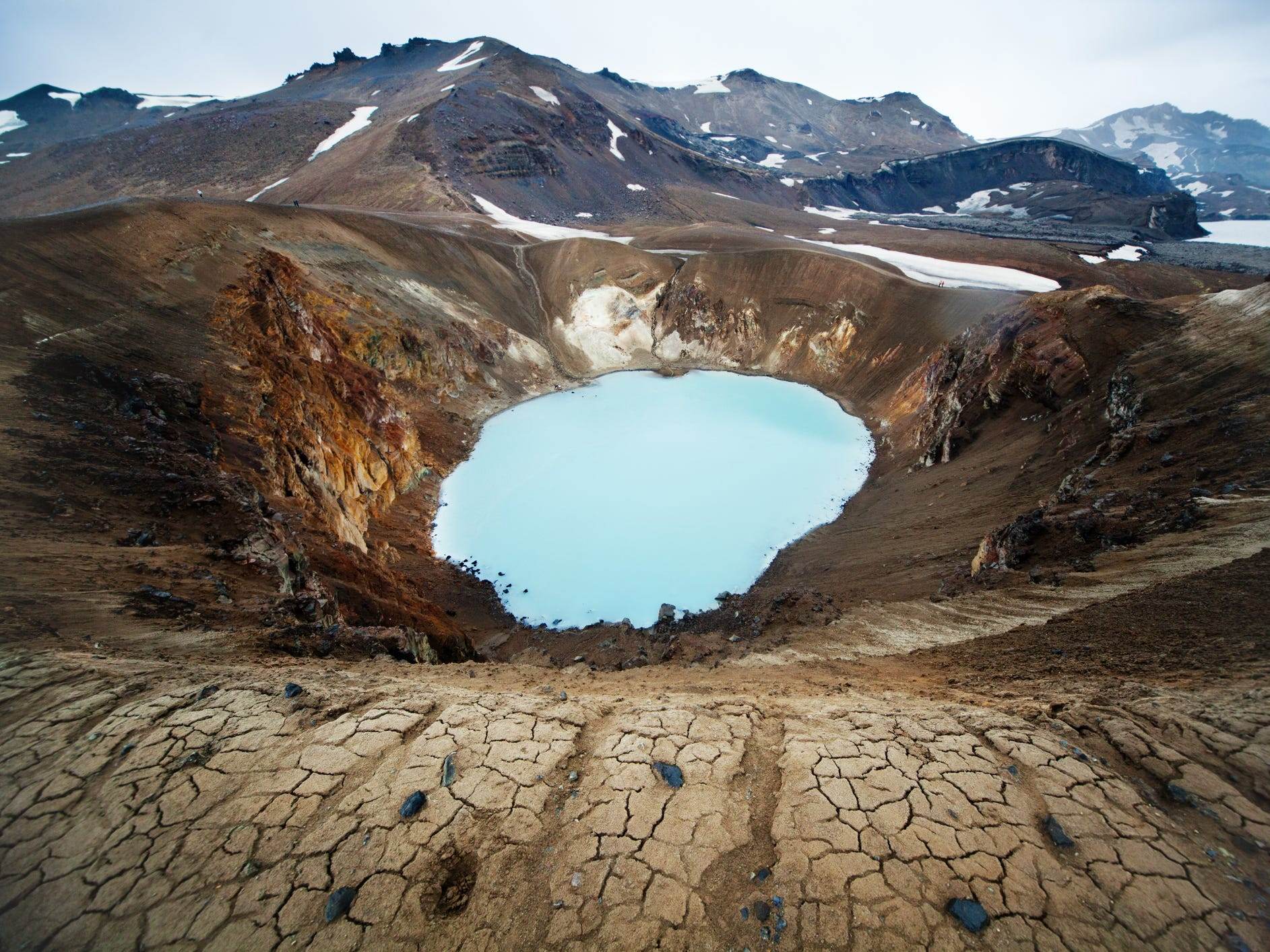 The Askja caldera in Iceland.