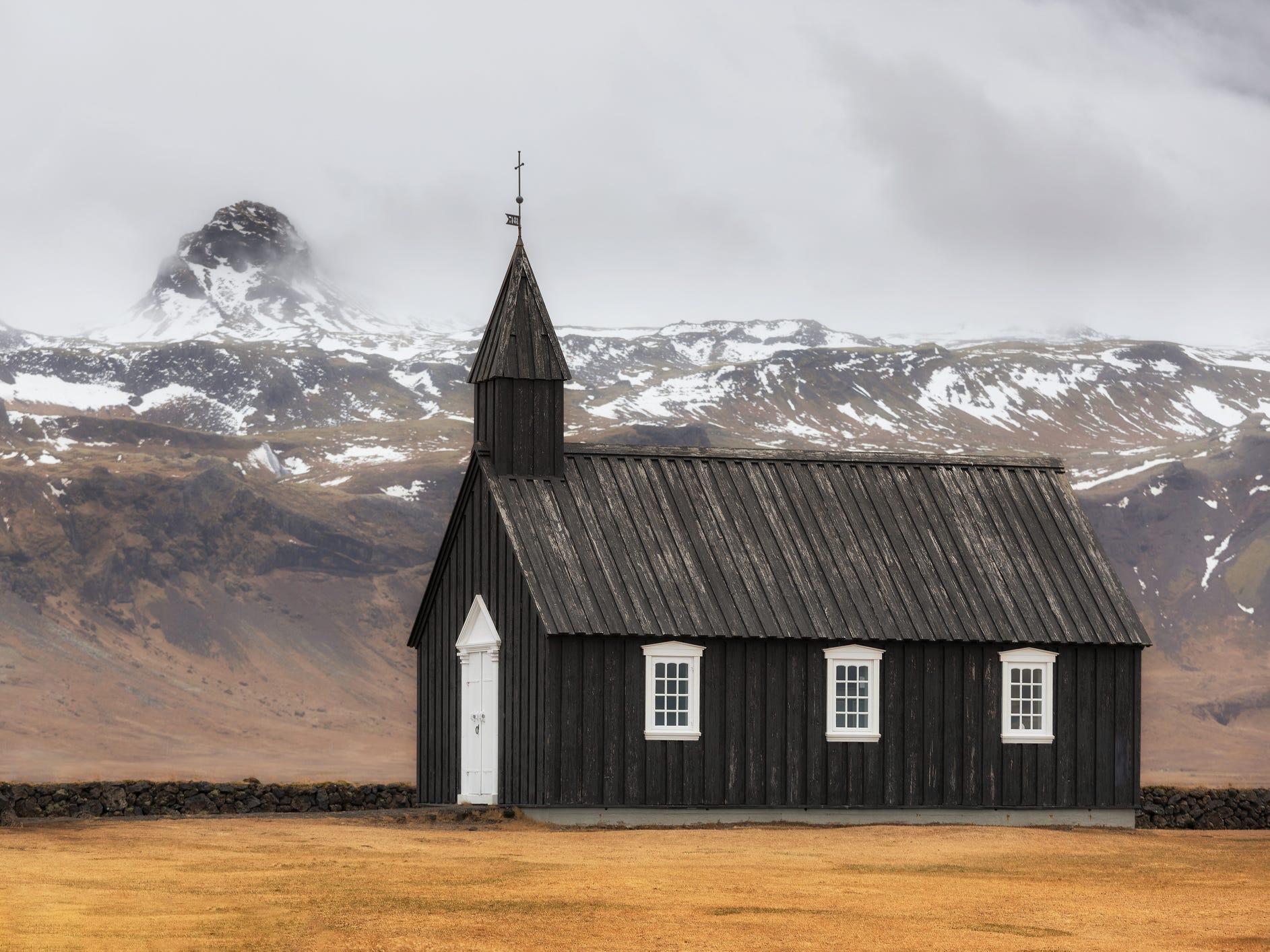 Búðakirkja in Búðir, Iceland.
