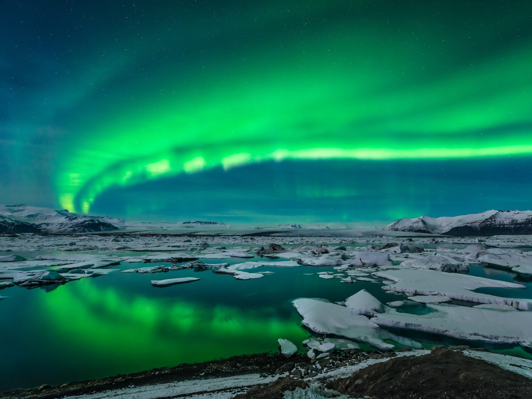Jökulsárlón in Iceland.