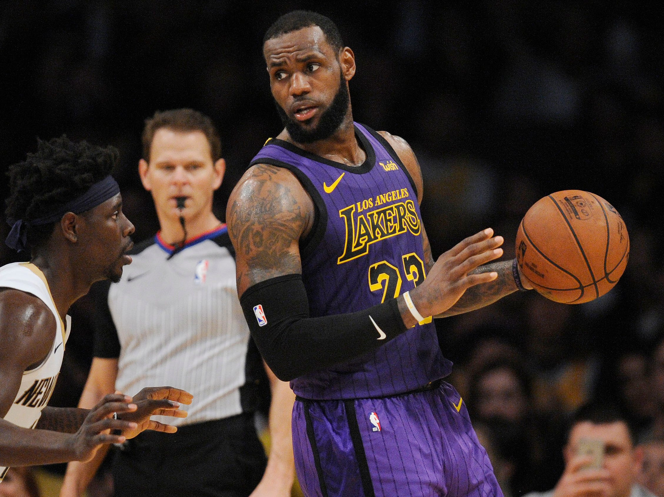 32. LeBron James, Lakers (Dec. 21): 22 points, 14 assists, 12 rebounds in 112-104 win over Pelicans (third of season).