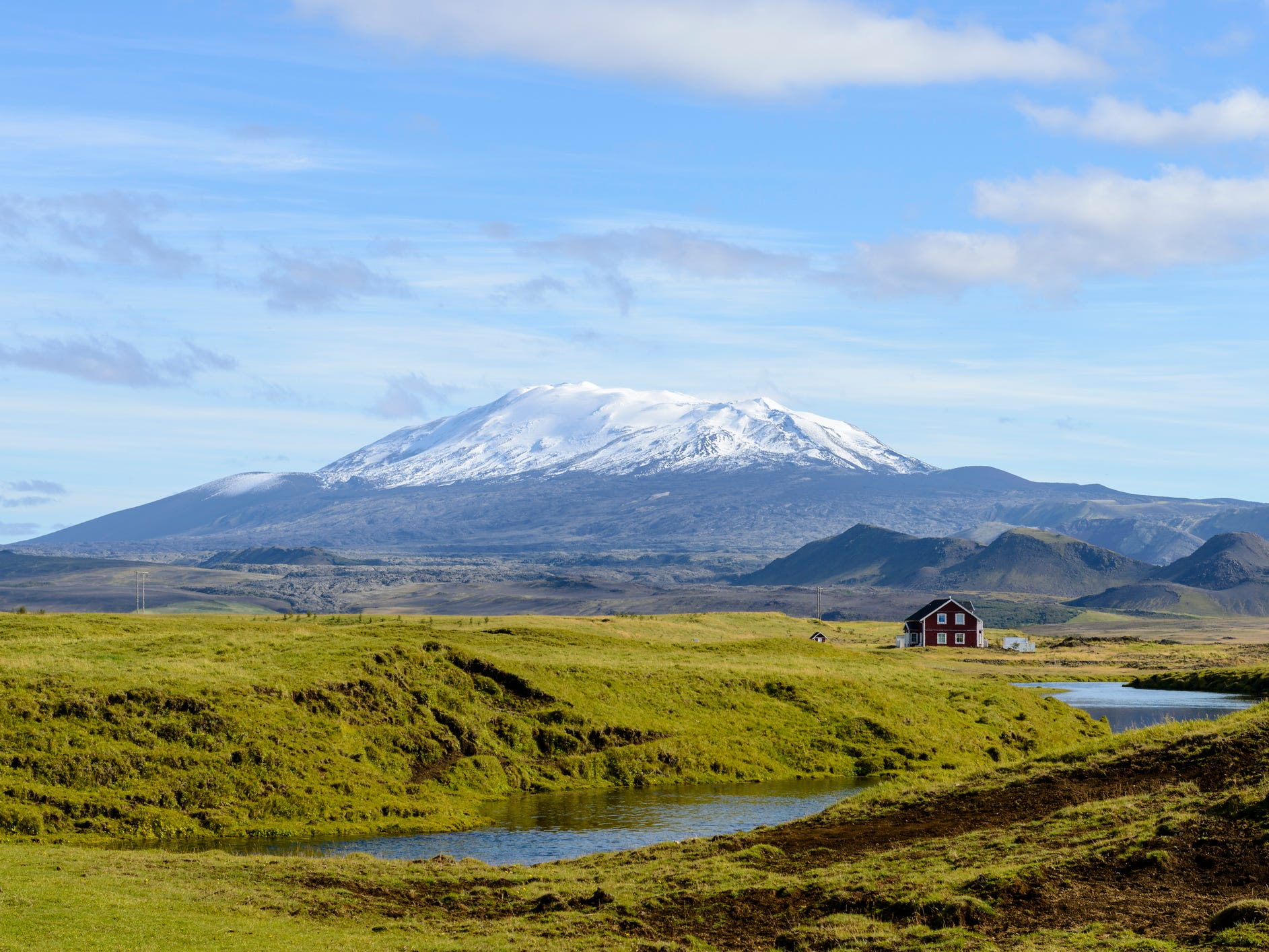 The Hekla volcano in Iceland.