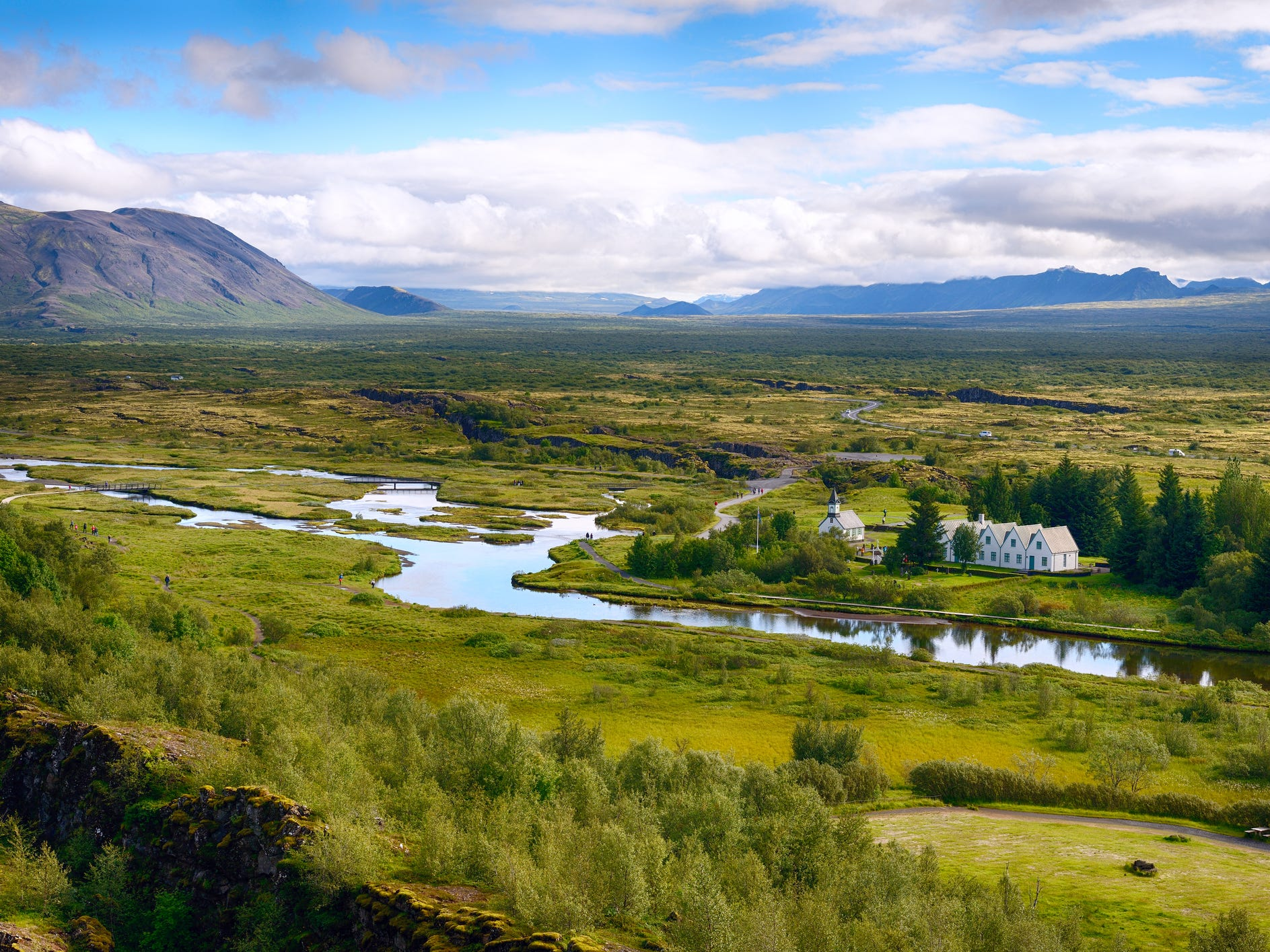 Thingvellir National Park in Iceland.