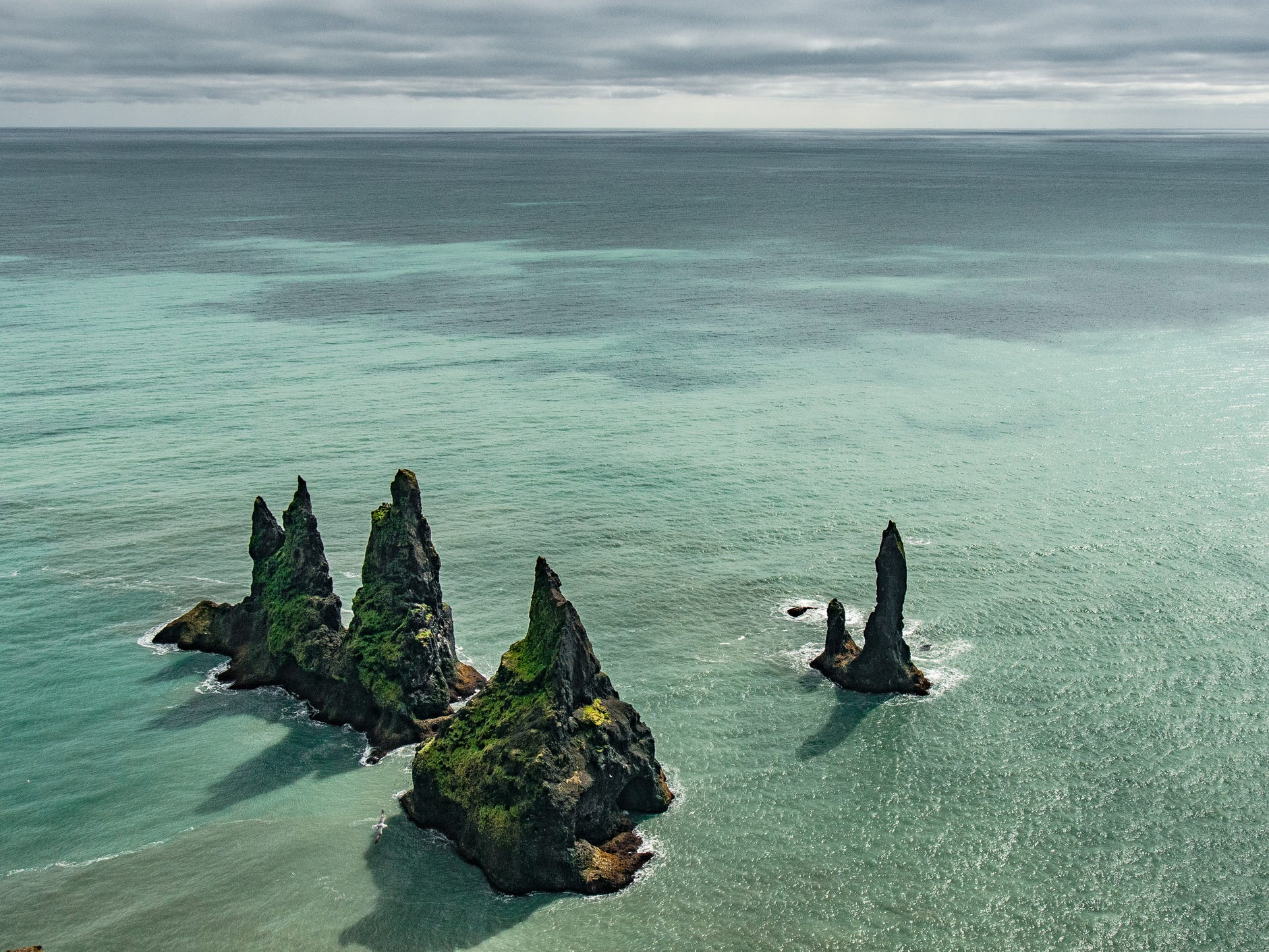 The Reynisdrangar formations in Iceland.