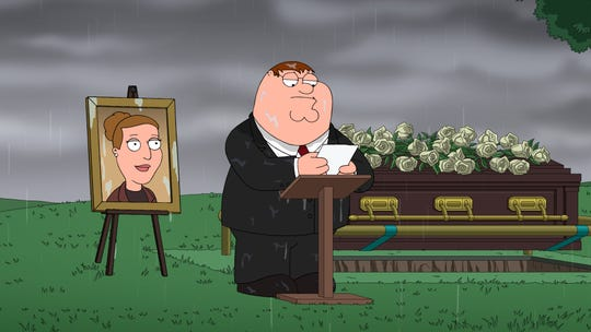 'Family Guy' last month honored the late Carrie Fisher via a sweet burial tribute from Peter Griffin (voiced by Seth MacFarlane) to brewery operator Angela, the character voiced by Fisher.