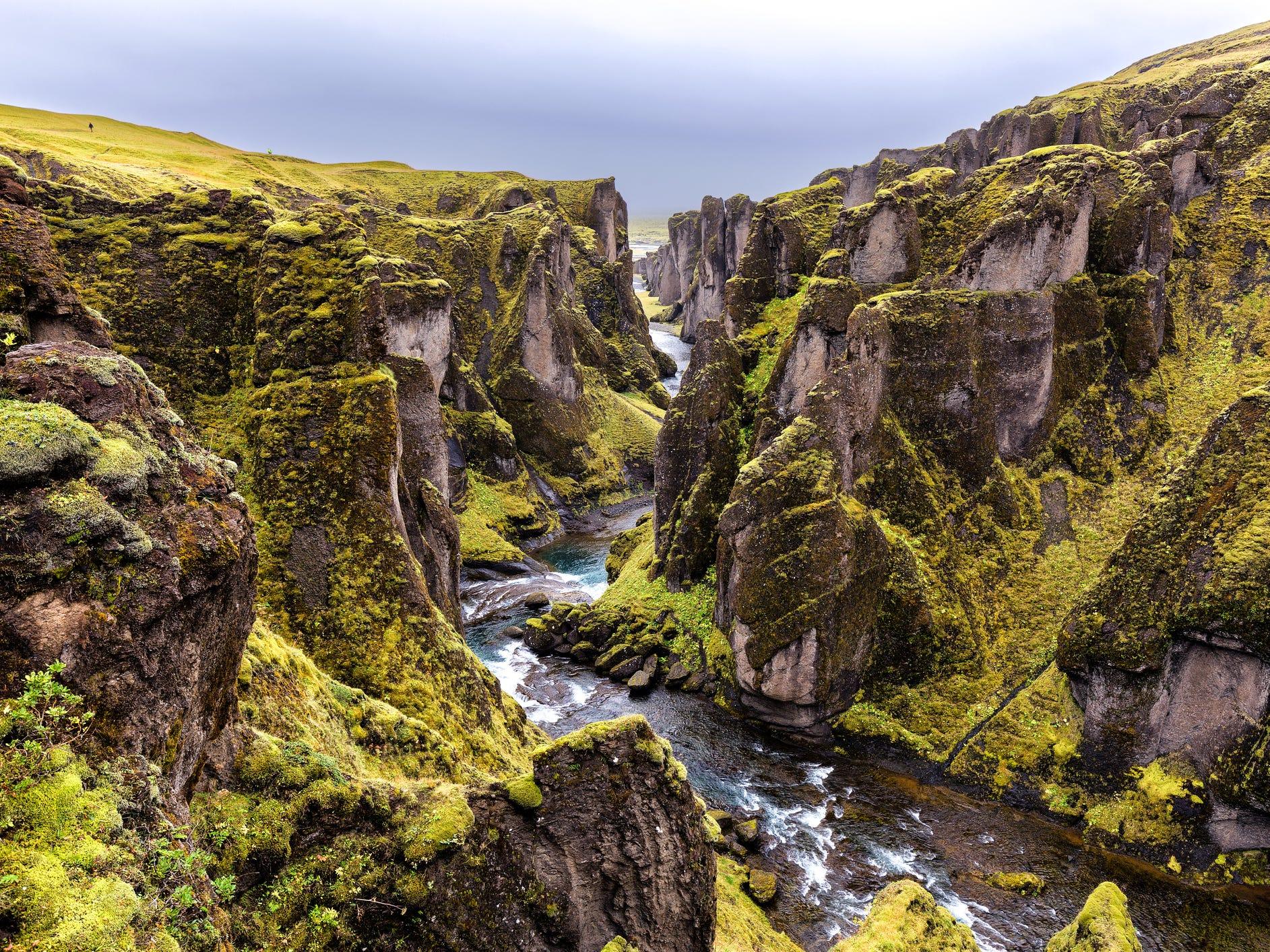 Fjaðrárgljúfur in Iceland.
