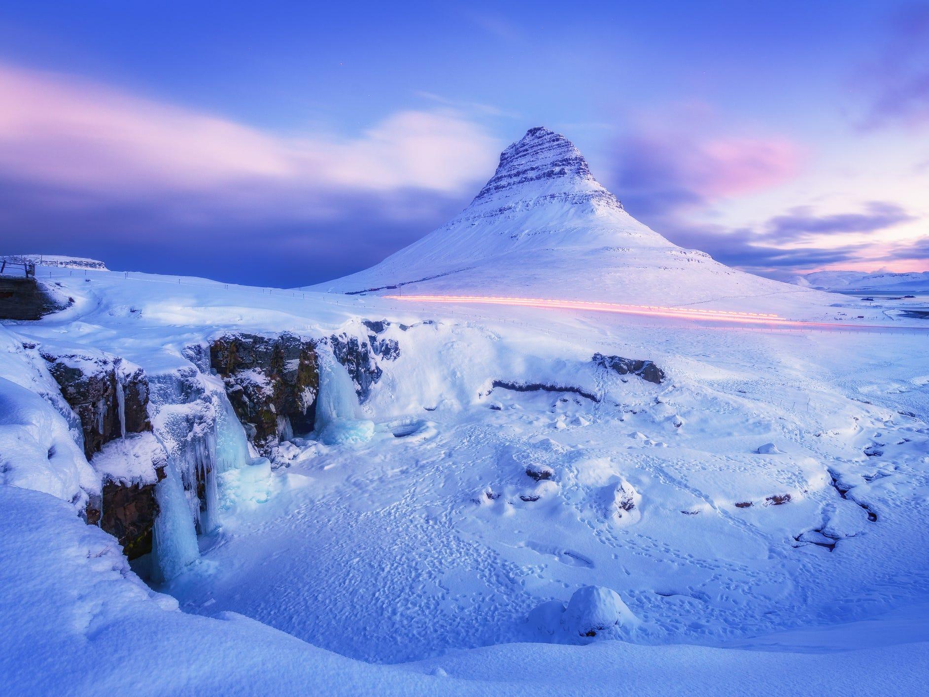 Kirkjufell in Iceland.