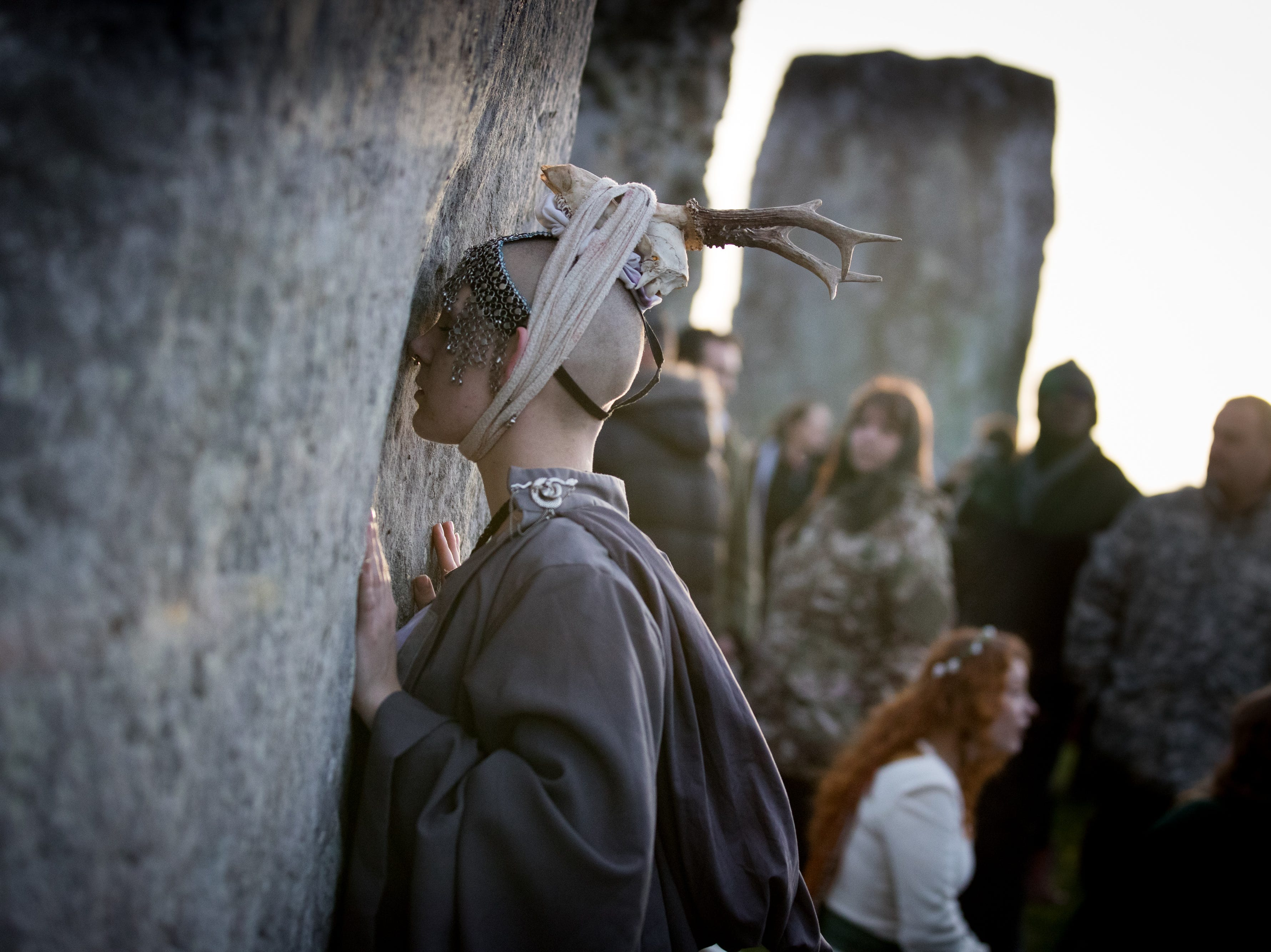 A woman holds one of the stones as druids, pagans and revelers gather at Stonehenge. Winter's shortest day is typically not the coldest day of the year. There is a bit of a lag between the shortest day of the year and the coldest average temperatures for most spots in the USA.