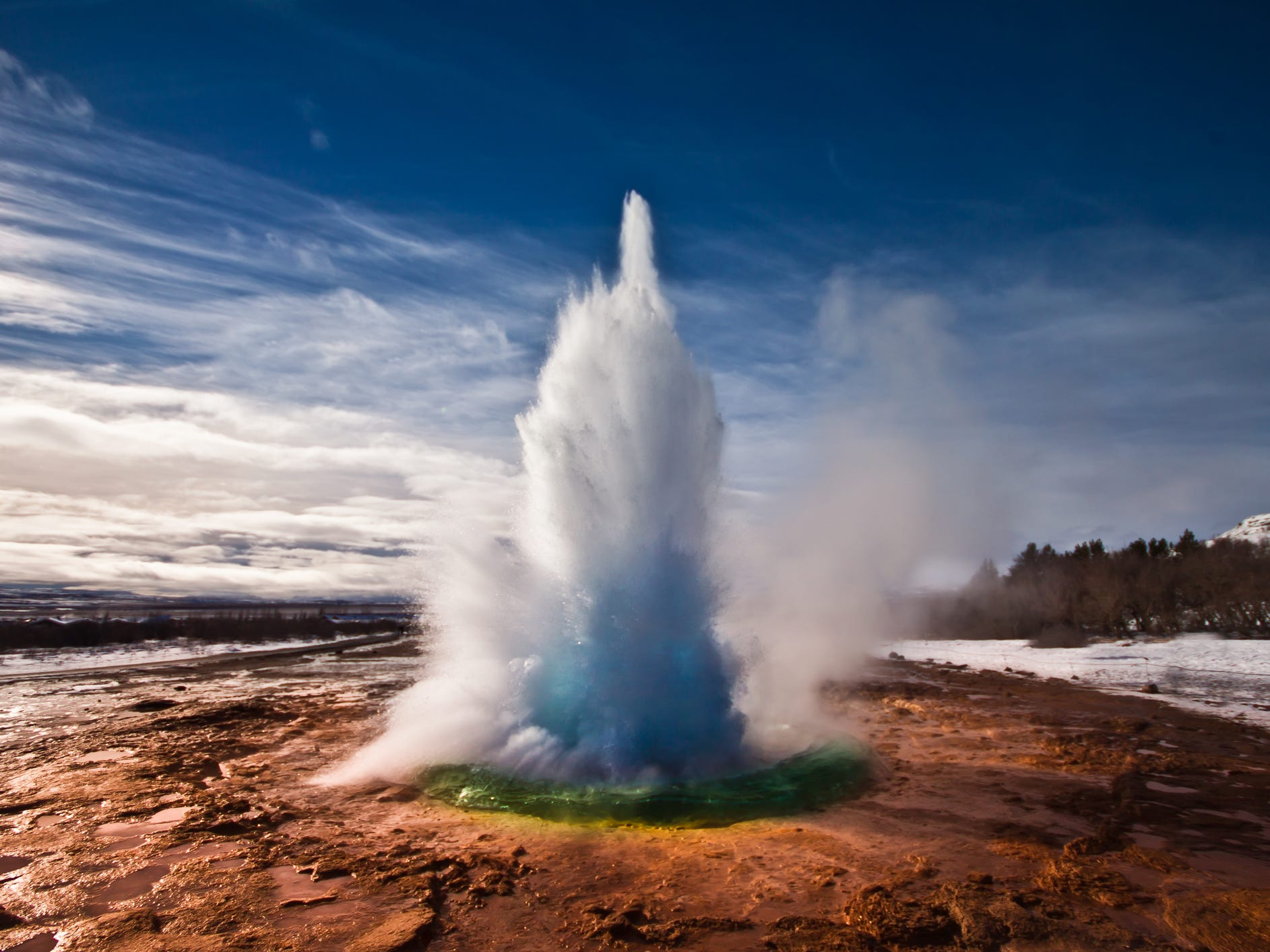 The Strokkur geyser in Iceland.