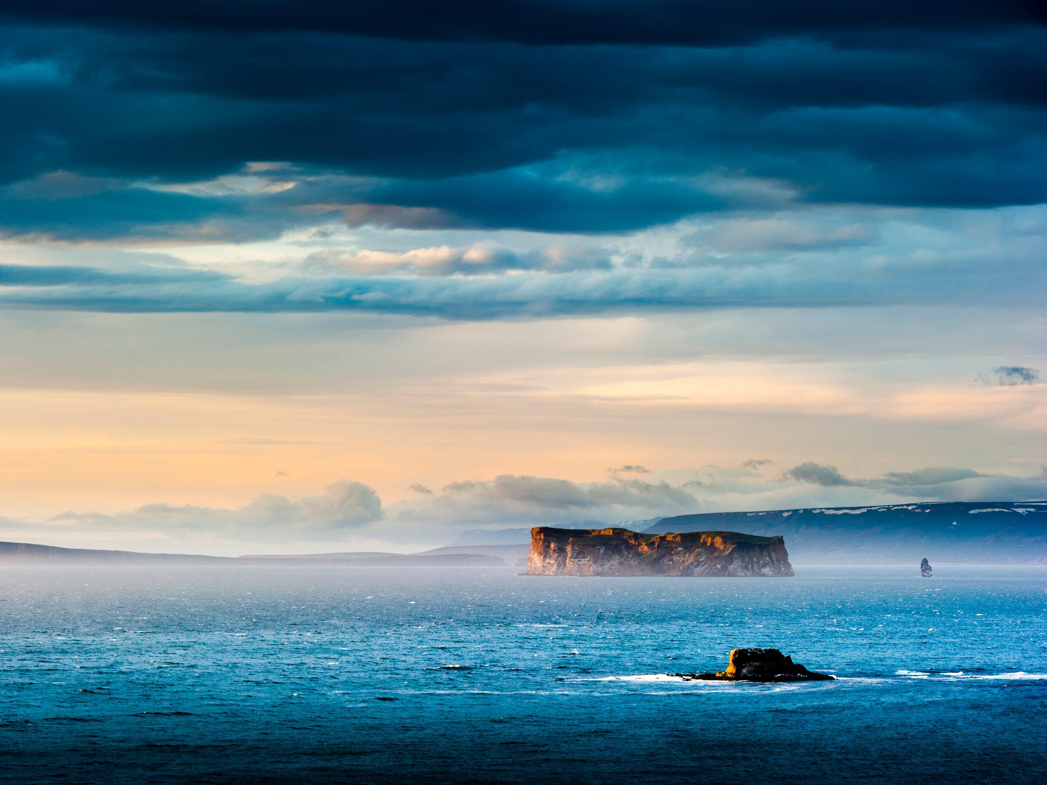 Drangey Island, Iceland.