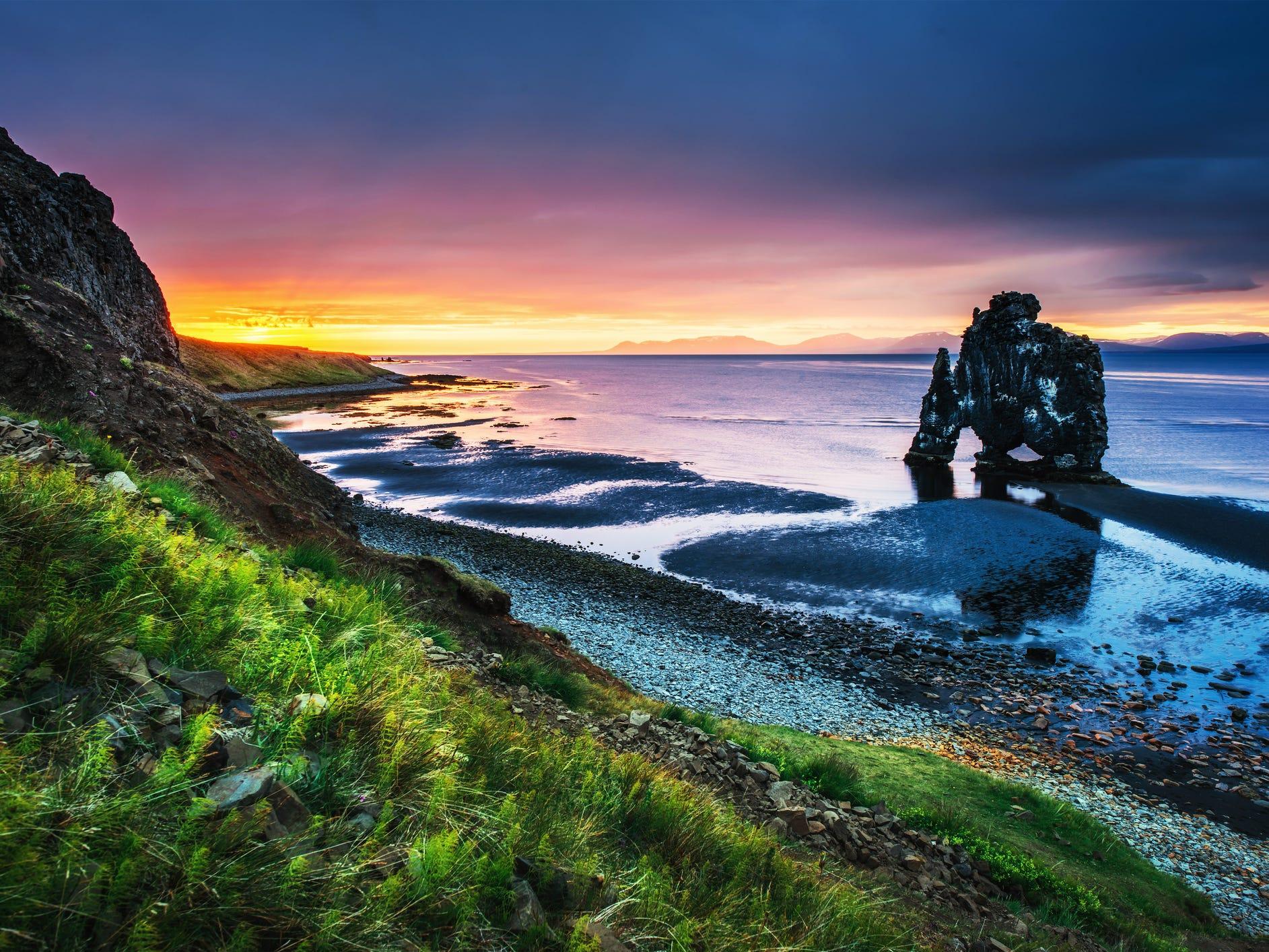 Hvítserkur in Iceland.