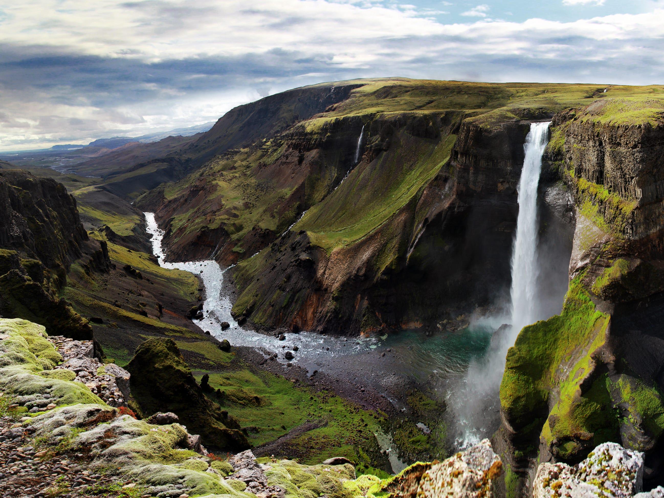 Háifoss in Iceland.