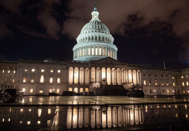 U.S. Capitol Hill building pictured after the partial government shutdown early Saturday.