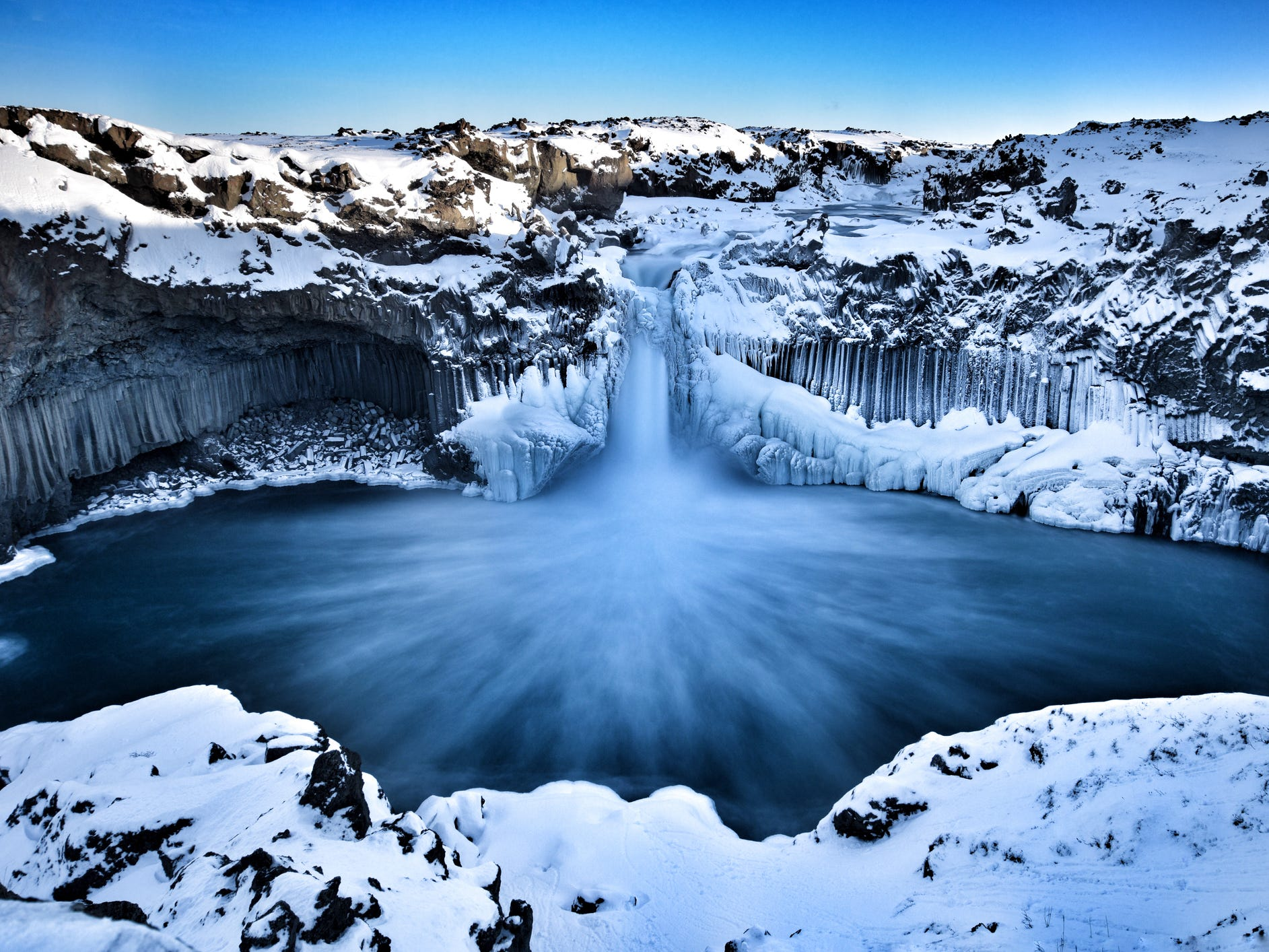 Aldeyjarfoss in Iceland.