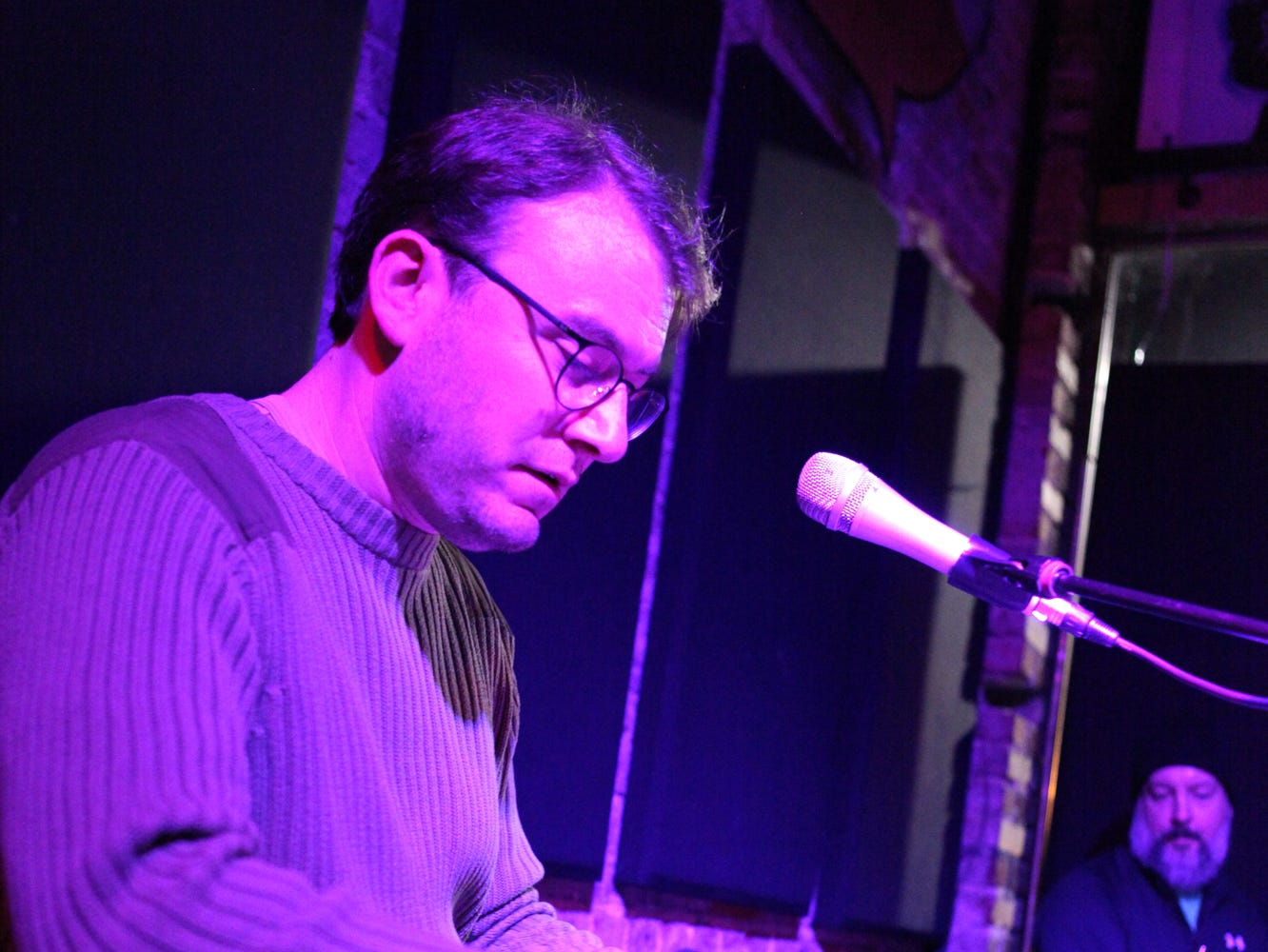 Simple Syrup pianist Adam McFarland Ph.D. Simple Syrup performed their Holiday Jam at Smiley's Acoustic Cafe on December 22, 2018.