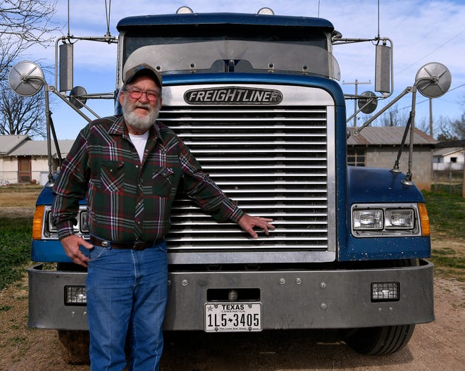 Ray Moore in front of his truck in Anson Saturday.