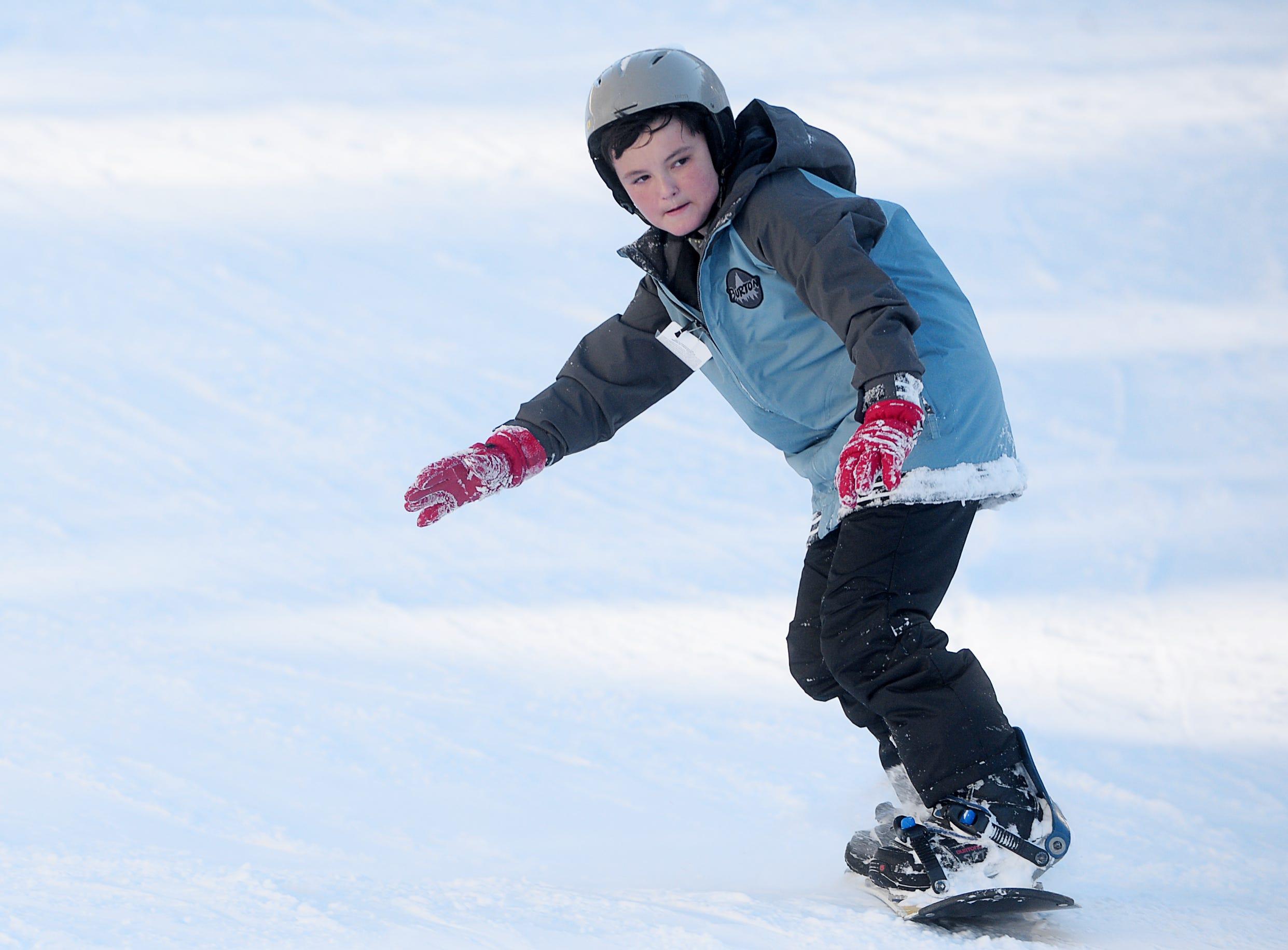 Skiers and snowboarders enjoyed fresh powder at Wolf Ridge Ski Resort in Mars Hill Dec. 22, 2018.