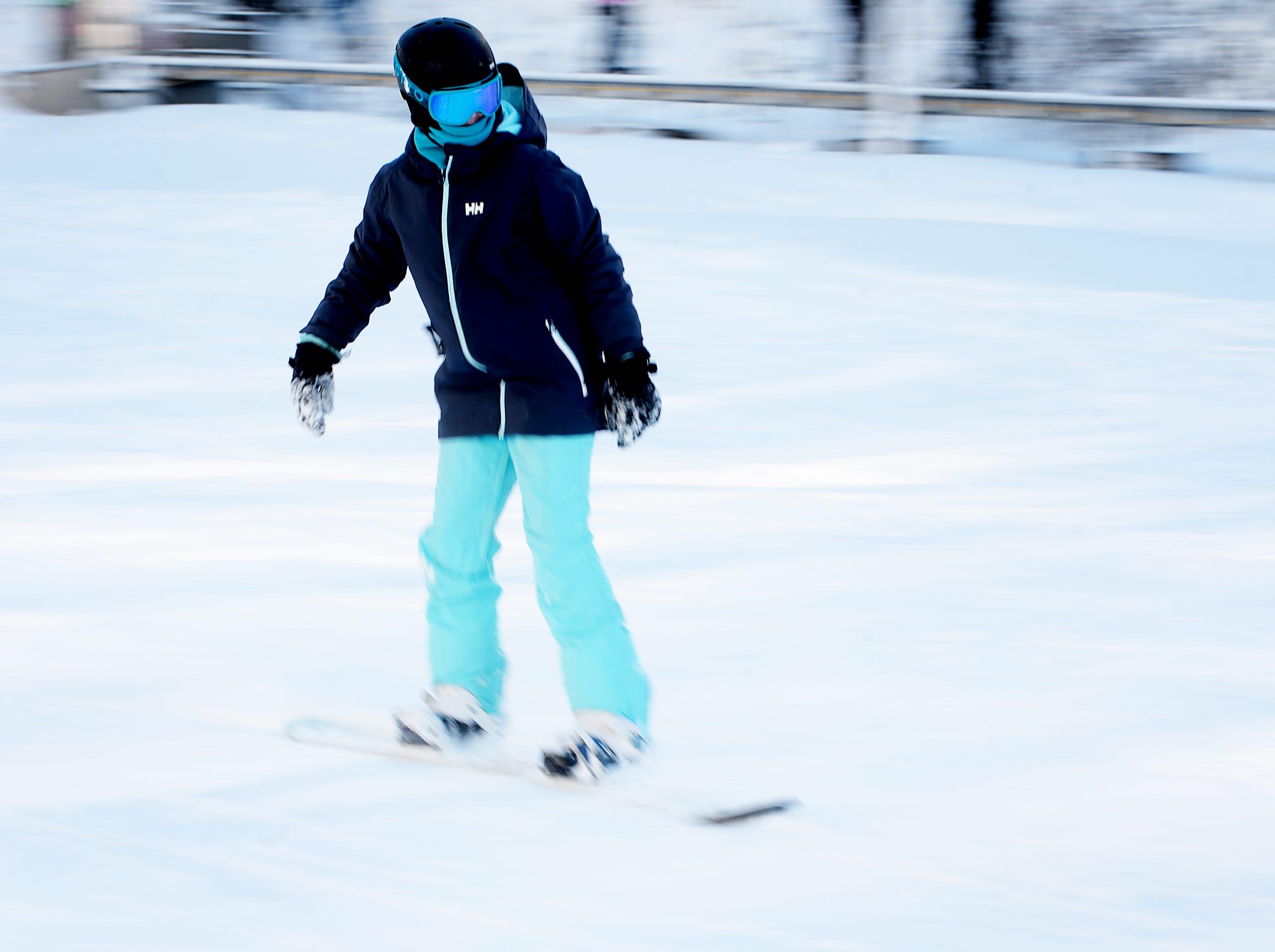 Skiers enjoyed fresh powder at Wolf Ridge Ski Resort in Mars Hill Dec. 22, 2018.