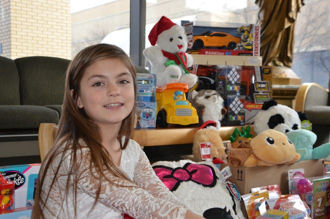 Hazel Chaltraw, 8, organized a toy drive and delivered them to Bronson Battle Creek on Sunday, December 23, 2018.