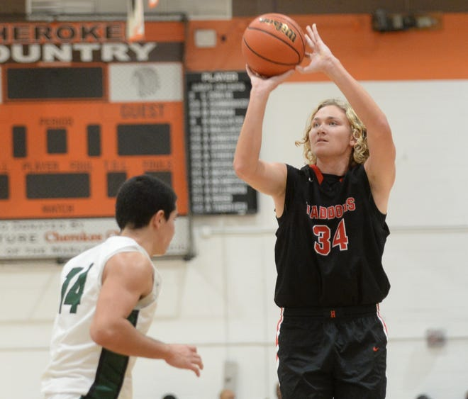 Haddonfield's Dylan Heine takes a shot during a win over Camden Catholic earlier this season.