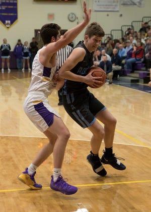 Logan Bennett scored 30 points and grabbed eight rebounds in Adena's 69-61 win over Hillsboro.