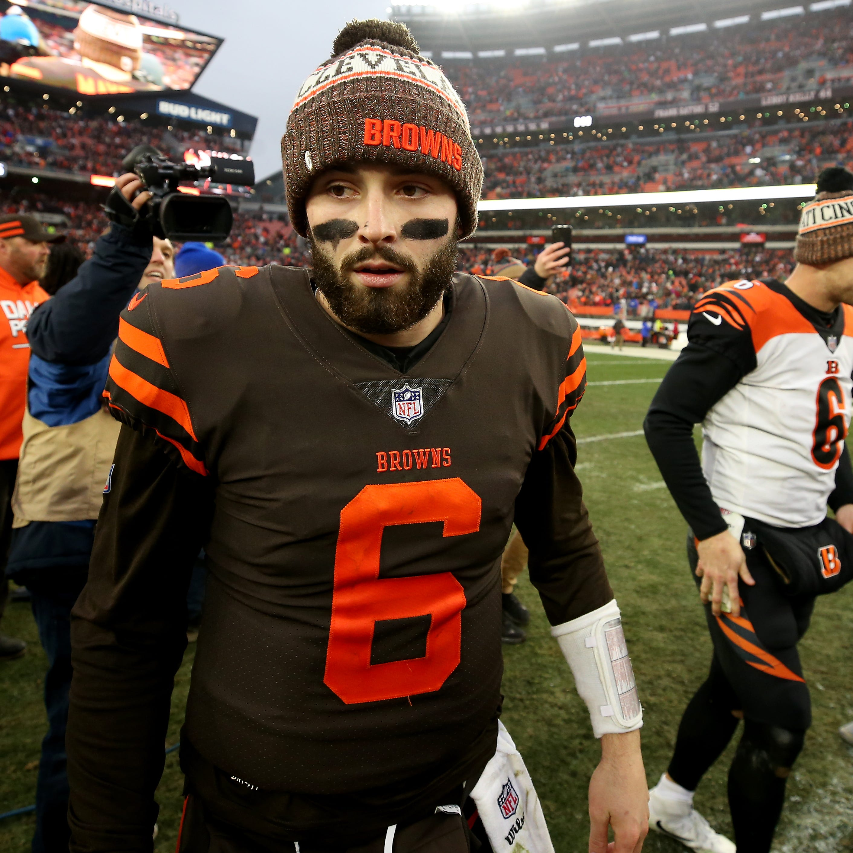 Cleveland Browns quarterback Baker Mayfield on Mason eliminating valedictorian honor: 'This is so dumb.'