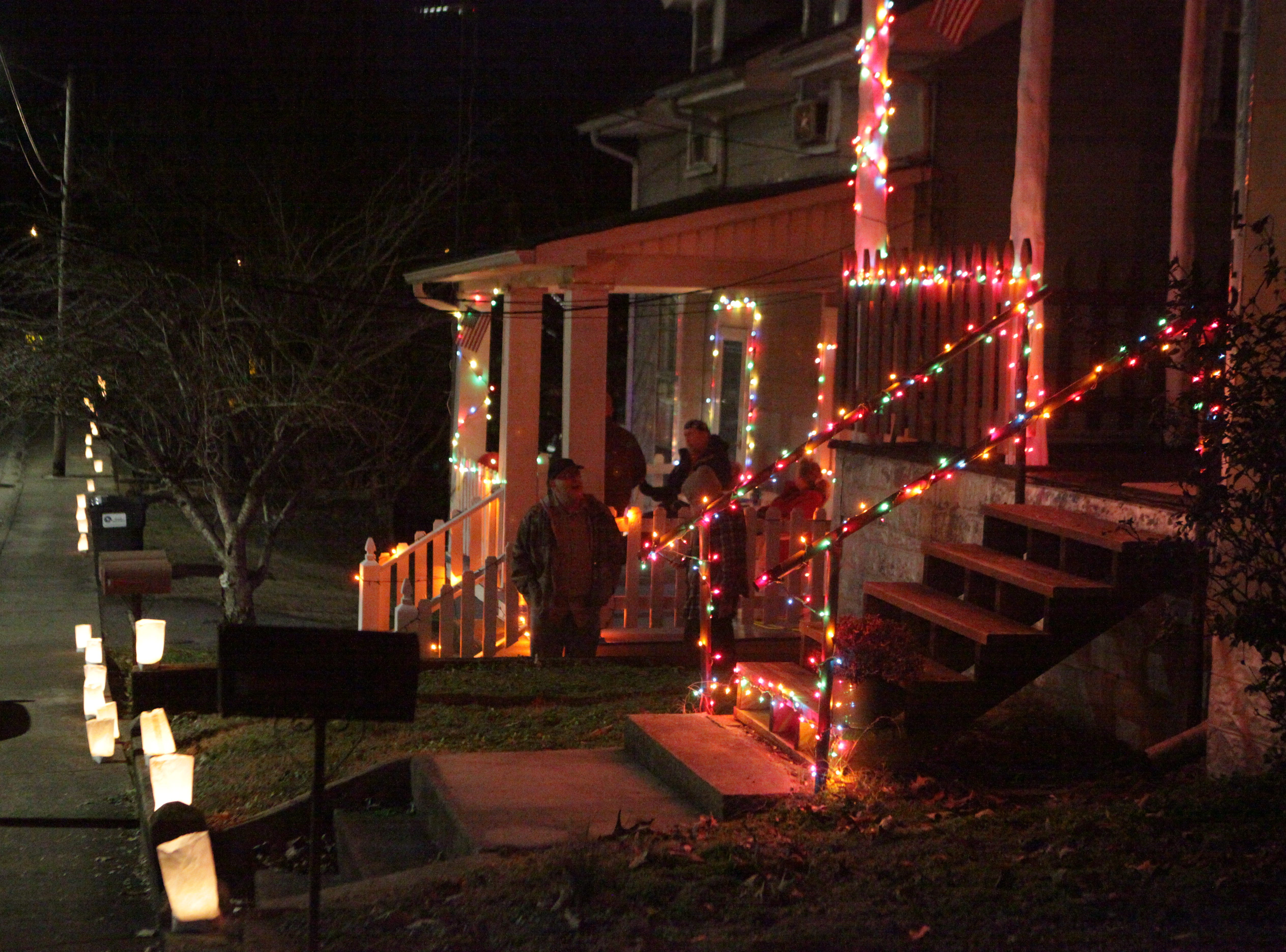 Residents held the annual Illuminating Dog Hill event with candlelit luminaria Saturday, Dec. 22, 2018, in Clarksville, Tenn.