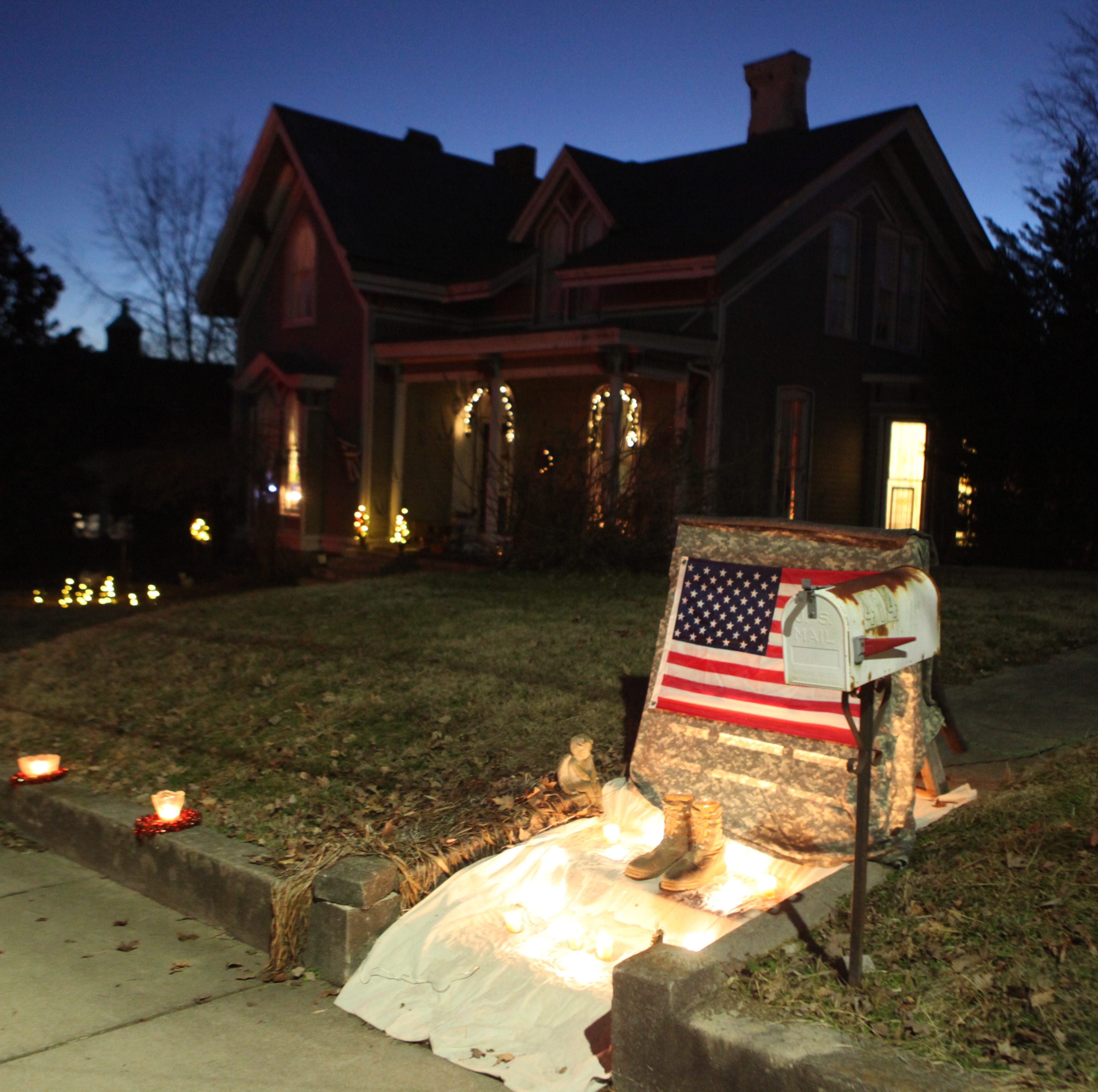 Candlelight lined the streets for Illuminating Dog Hill