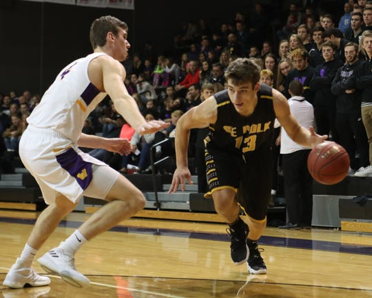 Southeast Polk's Dominic Caggiano drives in a Dec. 21 game against Waukee. Caggiano had 16 points against Mason City and 10 against Fort Dodge last week. Undefeated Waukee comes to Southeast Polk on Friday night.