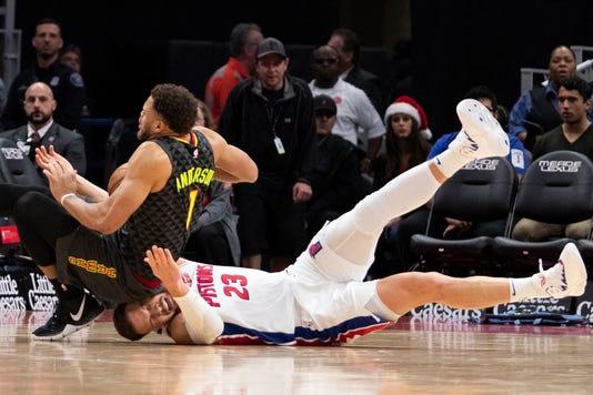 Nba Atlanta Hawks At Detroit Pistons