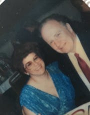 Barb and Ken Johnson photographed in August 1987, a month after getting engaged.