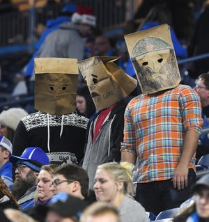 The bag heads returned to Ford Field as the Lions fell to 5-10 on the season.