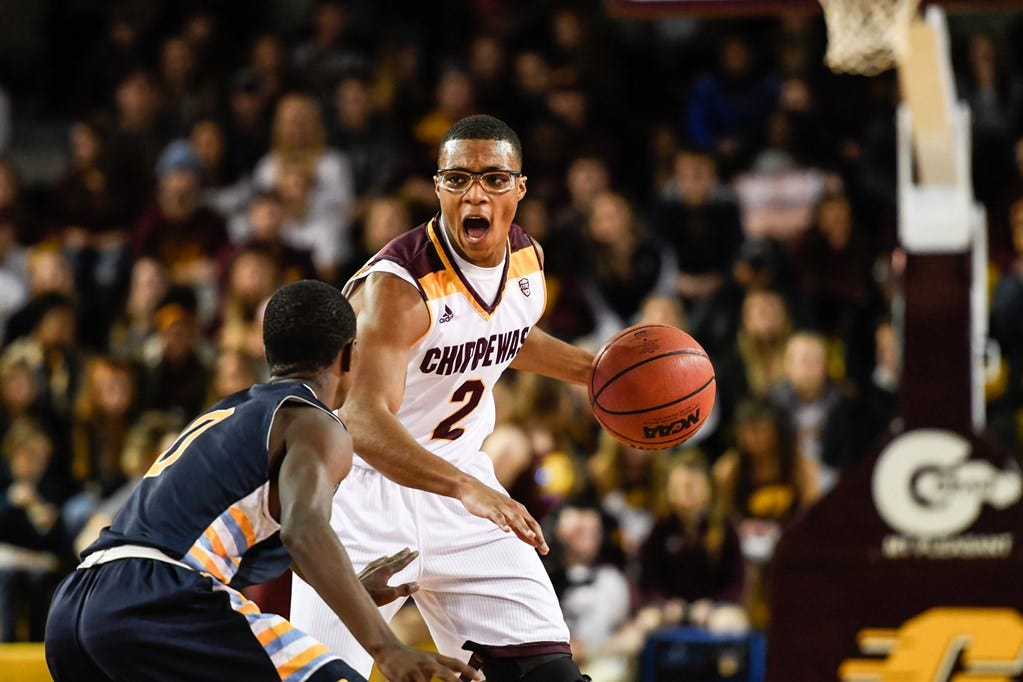 Saturday's men's basketball: Central Michigan overpowered by Ball State