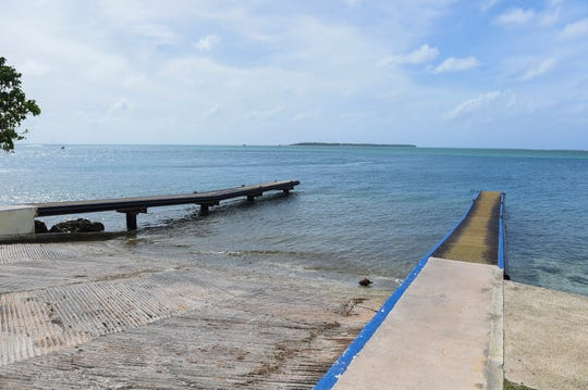 Cocos Island from a distance, as seen at the Merizo Pier, in this Dec. 23, 2018 file photo.