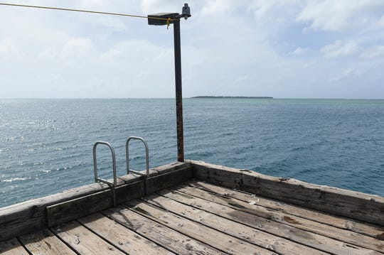 The Cocos Island is seen from the Merizo pier in this Dec. 23, 2018 photo.