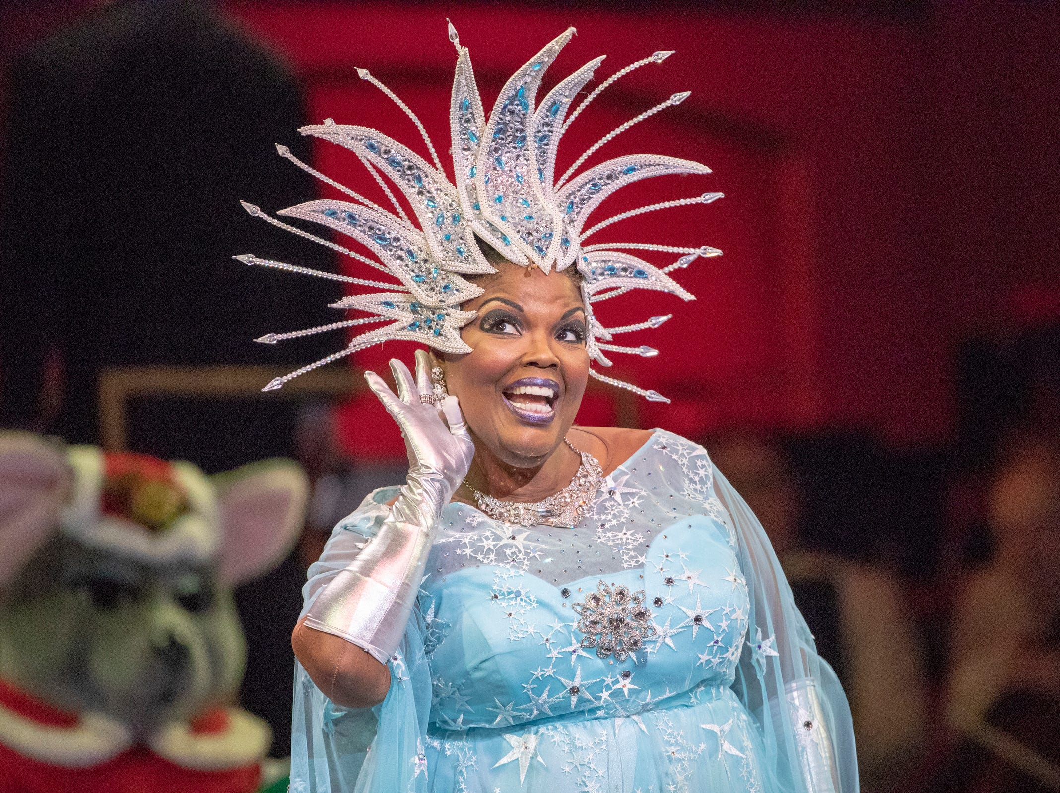 Angela Brown sings at Yuletide Celebration, showcasing the Indianapolis Symphony Orchestra, at Hilbert Circle Theater, Indianapolis, Sunday. Dec. 23, 2018. The extravaganza features dancing, holiday songs, and skits.