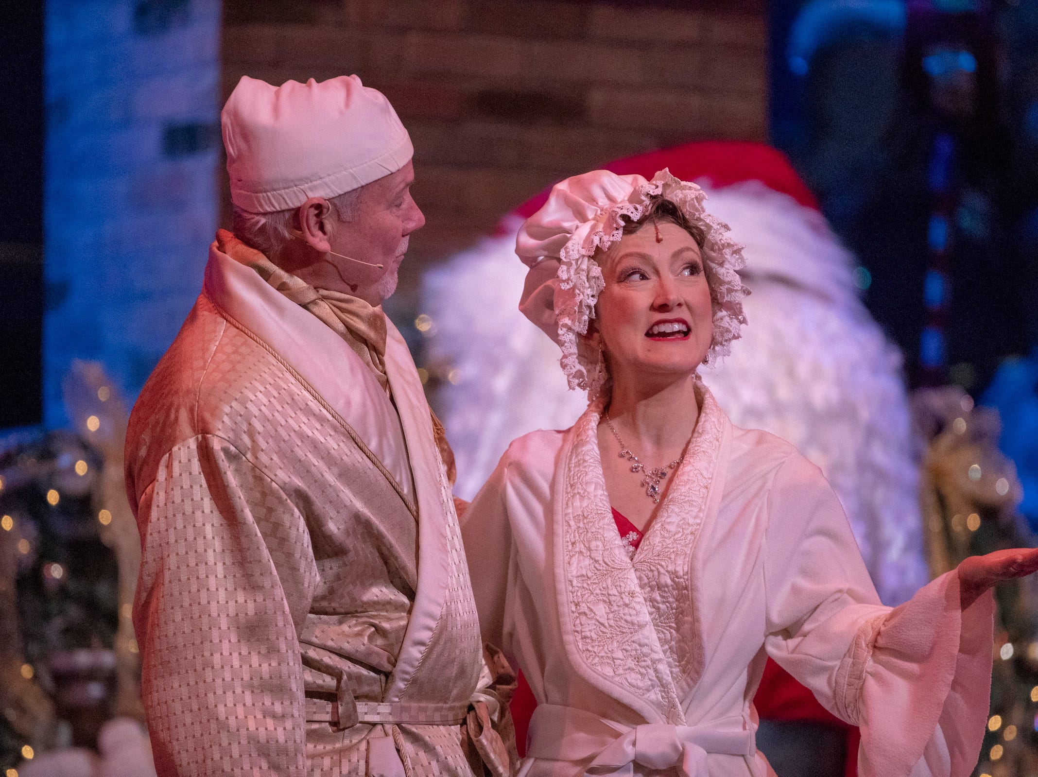 A musical number at Yuletide Celebration, showcasing the Indianapolis Symphony Orchestra, at Hilbert Circle Theater, Indianapolis, Sunday. Dec. 23, 2018. The extravaganza features dancing, holiday songs, and skits.