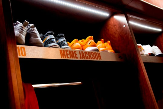The newly revamped Lady Vols locker room inside Thompson-Boling Arena in Knoxville, Tennessee on Thursday, December 20, 2018.