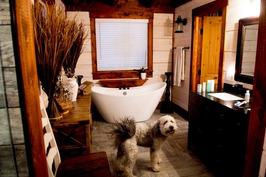 The master bathroom inside the Greiner home.