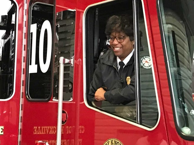 KFD Capt. Jaquetta Brooks retired on Sunday after a 30-year career with the department. Brooks was among the first women to join KFD in 1988 and was the first black woman to become a KFD captain.