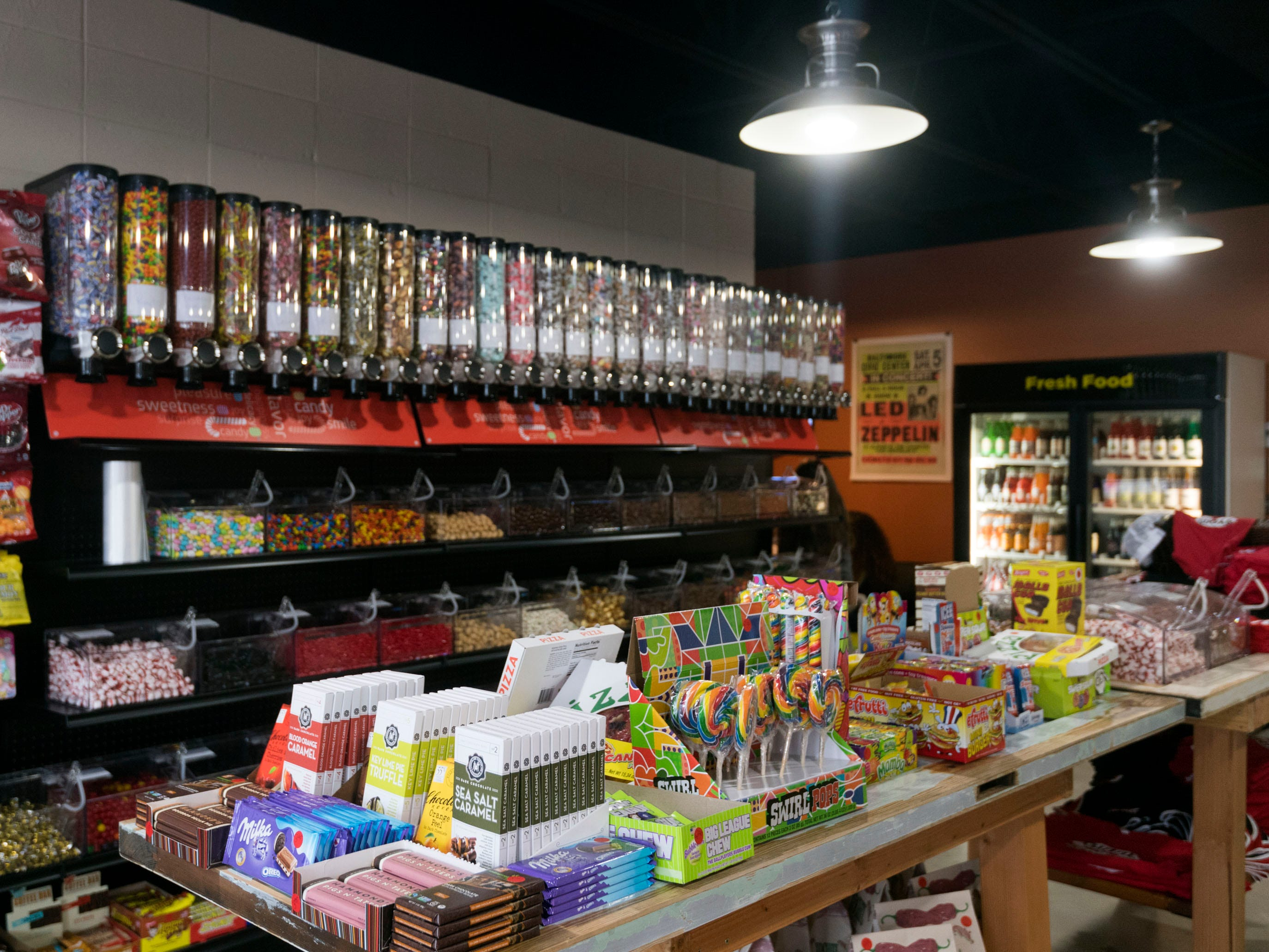 Gimme Sugar features a variety of candies, sodas, and chocolates.