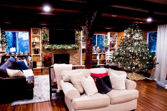 The living room inside the Greiner family home on Breezy Ridge Trail.
