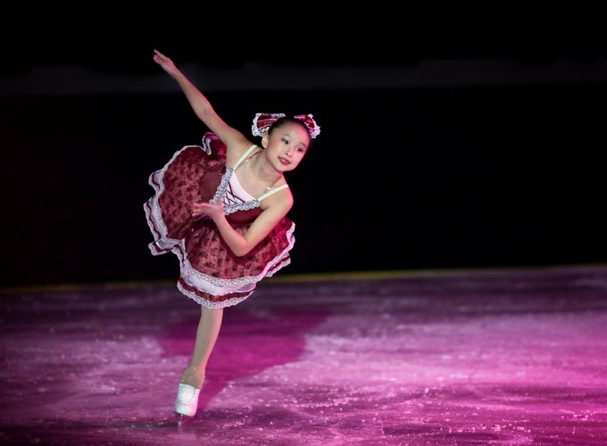 Misheel Otgonbaatar plays the Dancing Doll in Louisville Skating Academy's 15th Annual Nutcracker on Ice. This is her 4th appearance in the show but her first solo role.