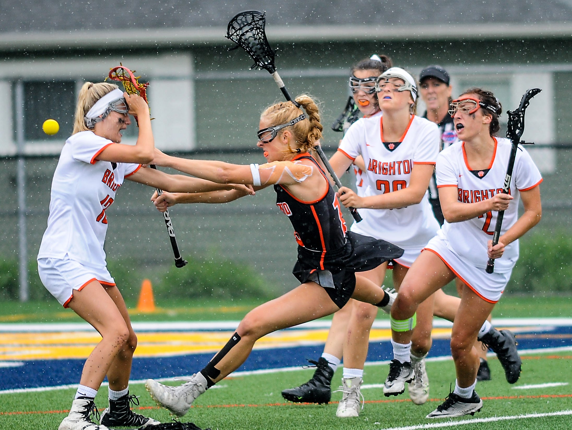 Brighton and Rockford compete in the Division 1 Girls Lacrosse Championship game Saturday, June 9, 2018.