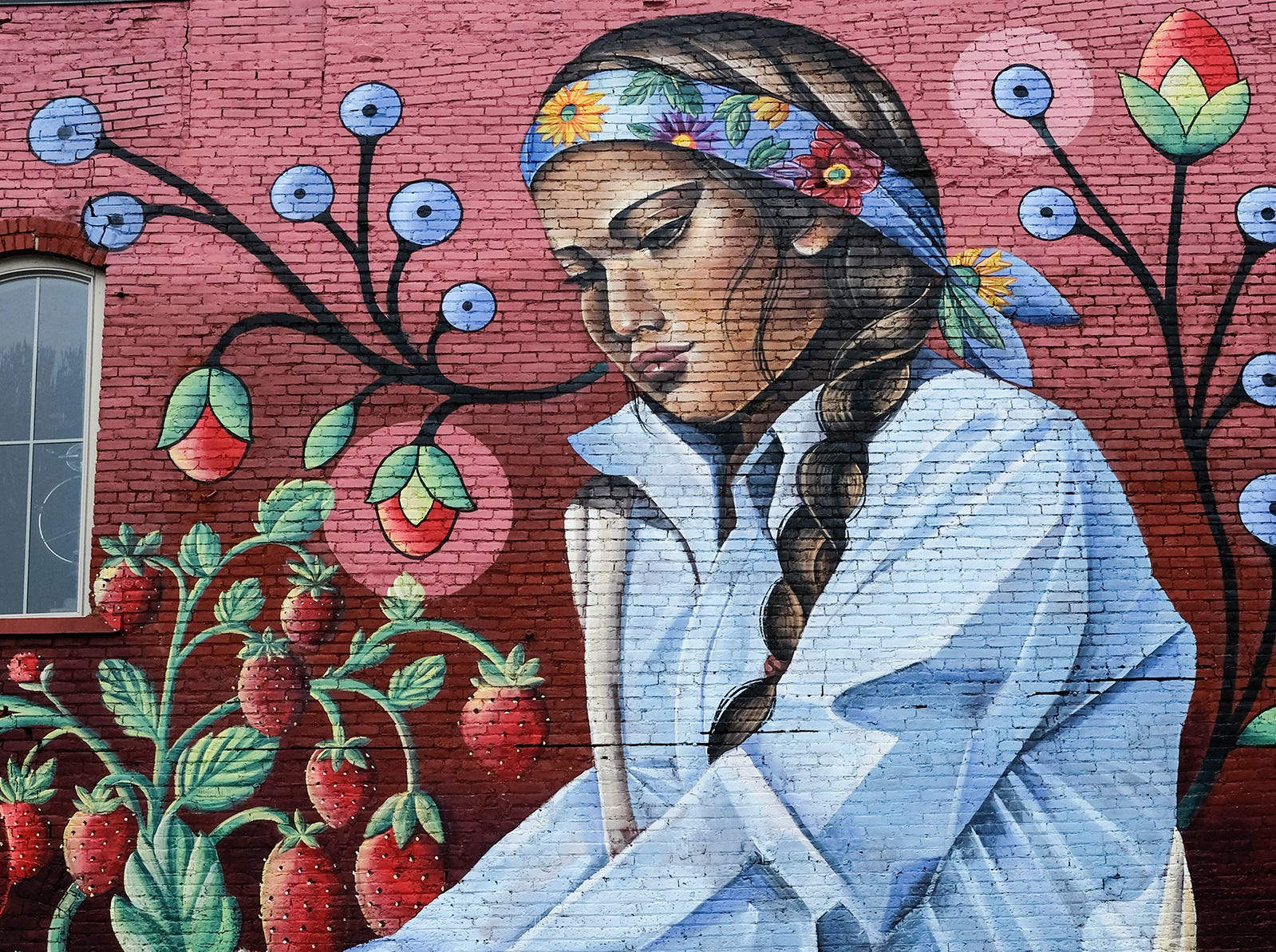 Lansing's Old Town has a new mural created by Dine (Navajo) and Chicana artist Nanibah Chacon. Sunday, Oct. 29, 2018.