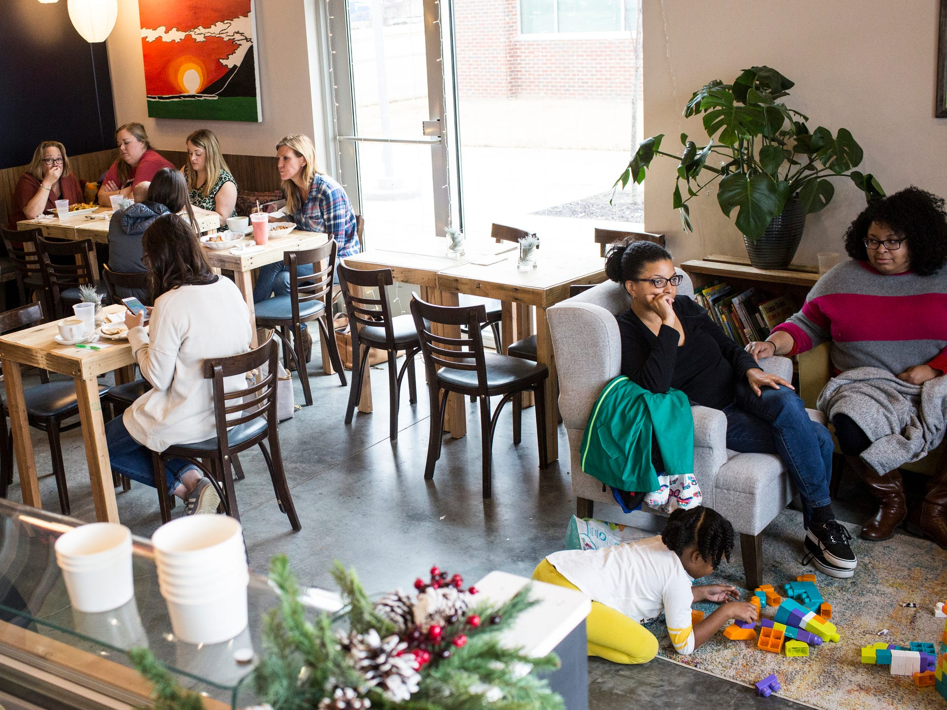 December 23 2018 - Scenes from Inspire Community Cafe during the final of three friends & family soft openings before the cafe opens January 4th.