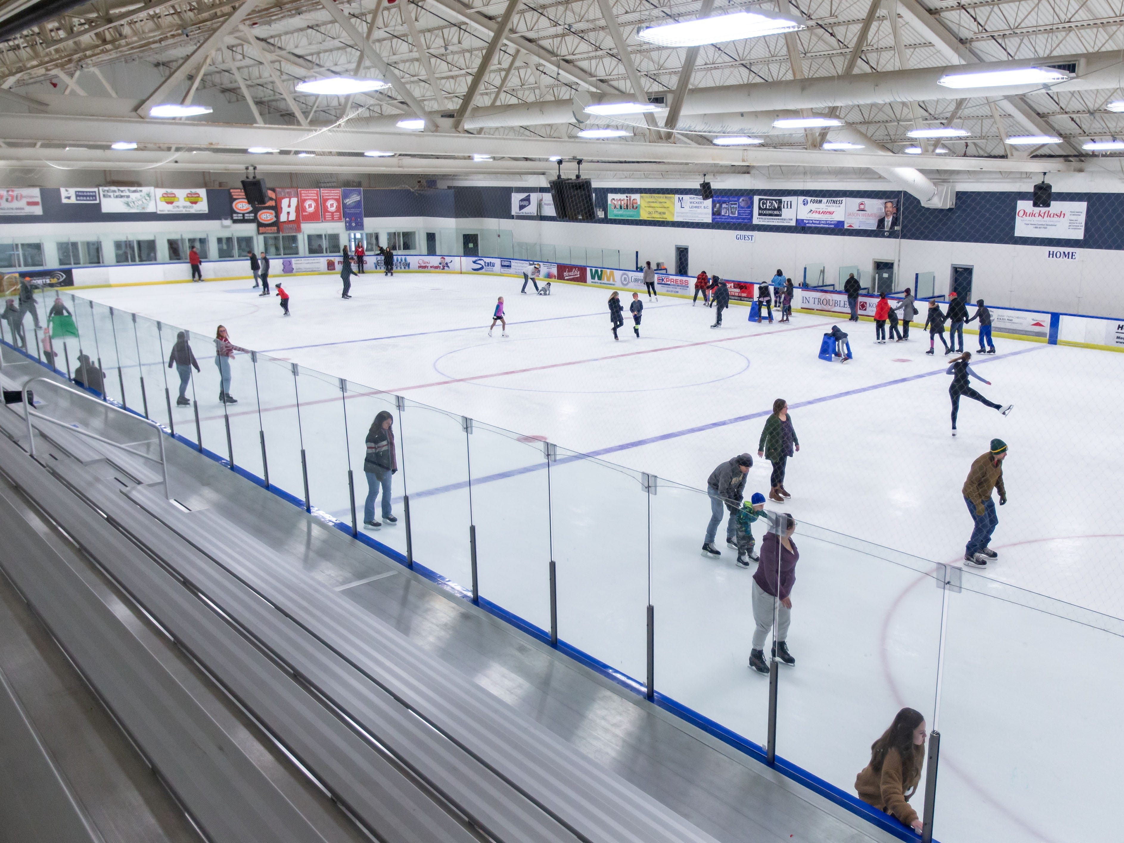 Skating enthusiasts of all skill levels enjoy public skating hours at the Ozaukee Ice Center in Mequon on Saturday, Dec. 22, 2018. The center offers public skating between 12:15 p.m. and 2:15 p.m. on Saturdays and Sundays.