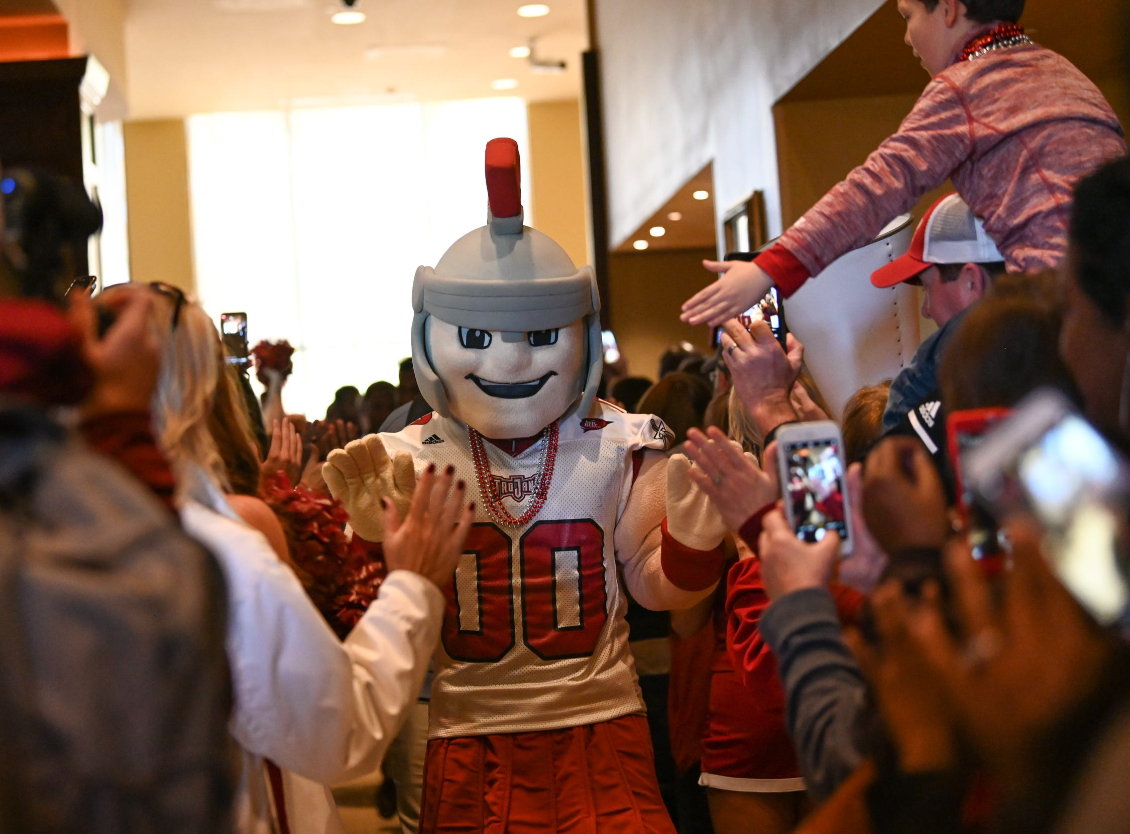 Trojan Walk before Troy's game against Buffalo in the Dollar General Bowl in Mobile on Dec. 22, 2018.